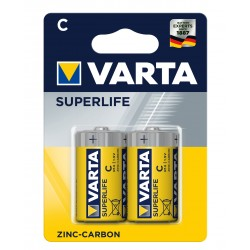 Батарейка Varta Superlife жовті С ZINC-CARBON R14 блістер 2шт 6304