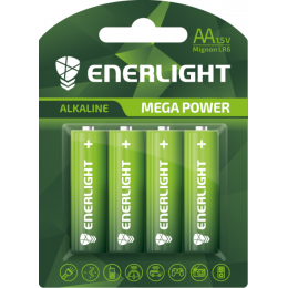 Батарейка Enerligh MegaPower зелена АА R6 блістер 4шт