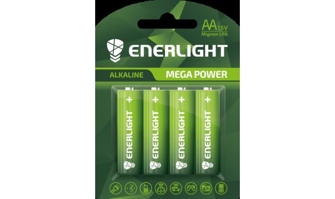 Батарейка Enerligh MegaPower зелена АА R6 блістер 4шт