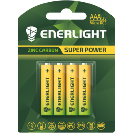 Батарейка Enerligh SuperPower жовта ААА R03 блістер 4шт 2086