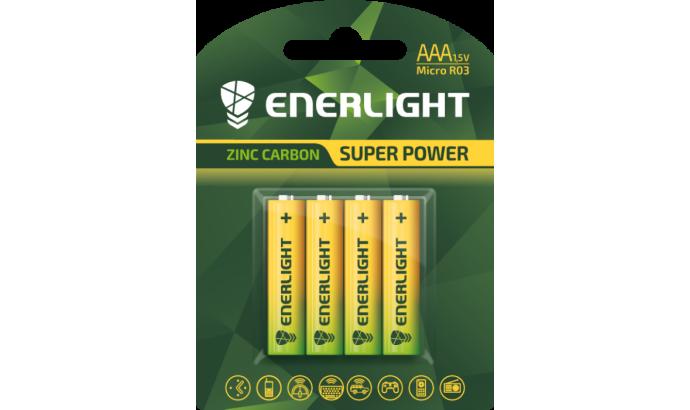Батарейка Enerligh SuperPower жовта ААА R03 блістер 4шт 2086