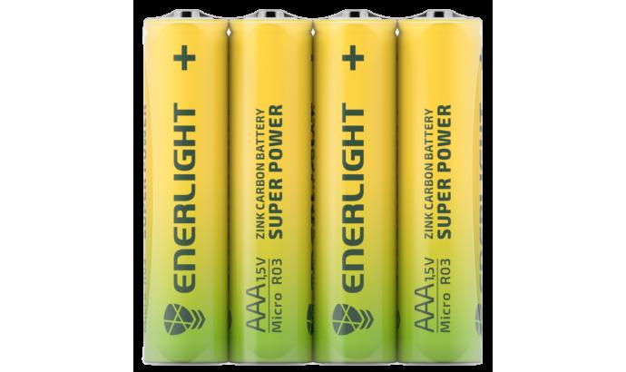 Батарейка Enerligh SuperPower жовта ААА R03 спайка 4шт 2116