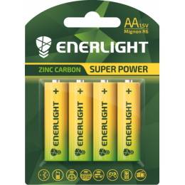 Батарейка Enerligh SuperPower жовта АА R6 блістер 4шт 2130
