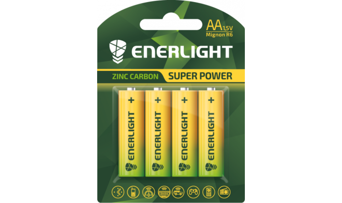 Батарейка Enerligh SuperPower жовта АА R6 блістер 4шт 2130