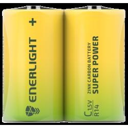 Батарейка Enerligh SuperPower жовта C R14 плівка 2шт 2185