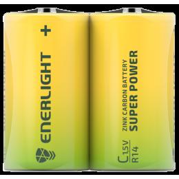 Батарейка Enerligh SuperPower жолтая C R14 пленка 2шт 2185