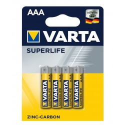Батарейка Varta Superlife жовті ААA ZINC-CARBON R03 блістер 4шт 6187