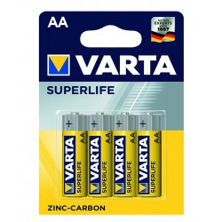 Батарейка Varta Superlife жовті АА ZINC-CARBON R6 блістер 4шт 6267
