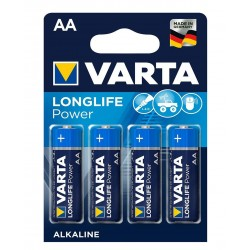 Батарейка Varta HIGH ENERGY/LONGLIFE POWER темно-сині AA ALKALINE R6 блістер 4шт 9435