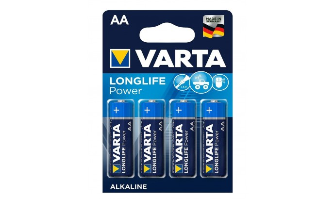 Батарейка Varta HIGH ENERGY/LONGLIFE POWER темно-сині AA ALKALINE R6 блістер 4шт 9435