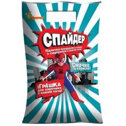 Кукурузные палочки с сюрпризом «Спайдер» Бумкорн - 100 гр