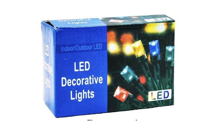 Гірлянда новорічна різнокольорові 100 LED ламп