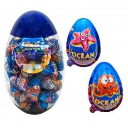 Шоколадні яйця ДЖОЙ ОКЕАН + іграшка ростушка банка 8г (60шт)