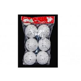 Набір куль білих  4 см 91272 - 6 шт