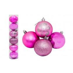 Куля блідо рожева тубус 7174 - 6 шт