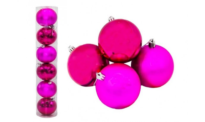 Куля рожева тубус 7171 - 6 шт