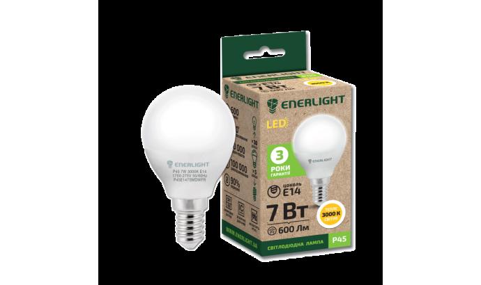 Лампа світодіодна Enerlight Р45 Е14 7Вт 600Лм 3000К (тепле світло)