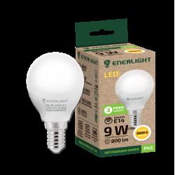 Лампа світодіодна Enerlight Р45 Е14 9Вт 3000К (тепле світло)