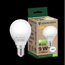 Лампа світодіодна Enerlight Р45 Е14 9Вт 4100К (біле світло)