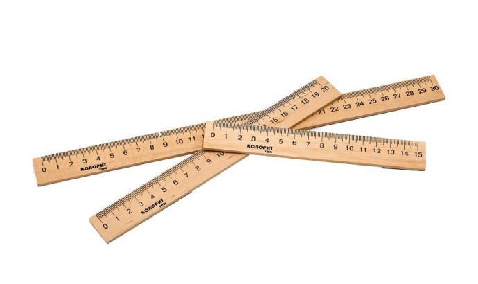 Лінійка деревяна - 30 см