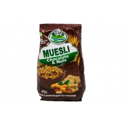Мюслі «MUESLI Chocolate Nuts» Еко-Прод 450г