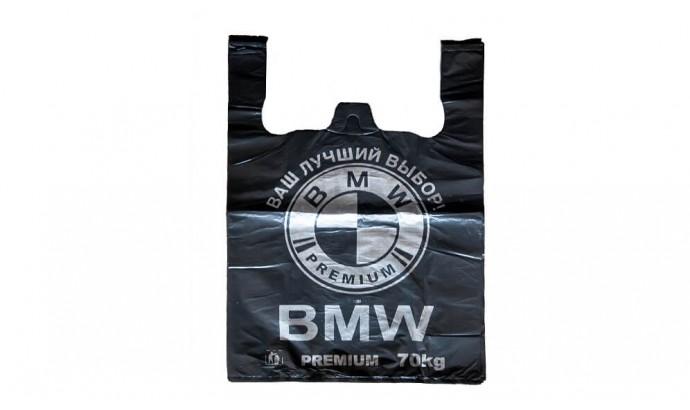 Пакет майка BMW чорний 50 шт.