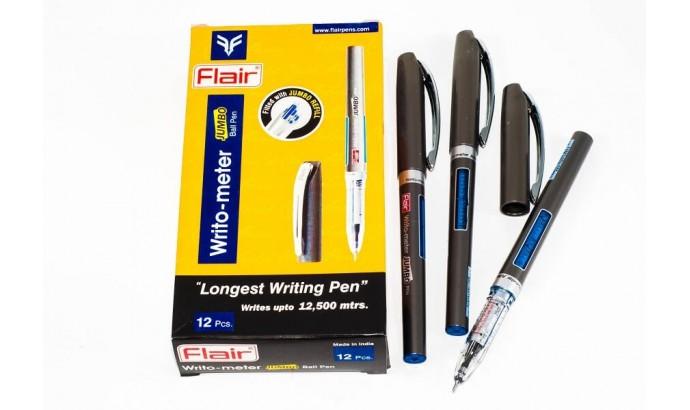 Ручка 12,5 км Flair синя - 12 шт