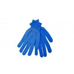 Рукавиці робочі нейлонові «Мікрокрапка» сині
