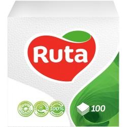 Столові серветки 33x33 Ruta білі - 100 шт