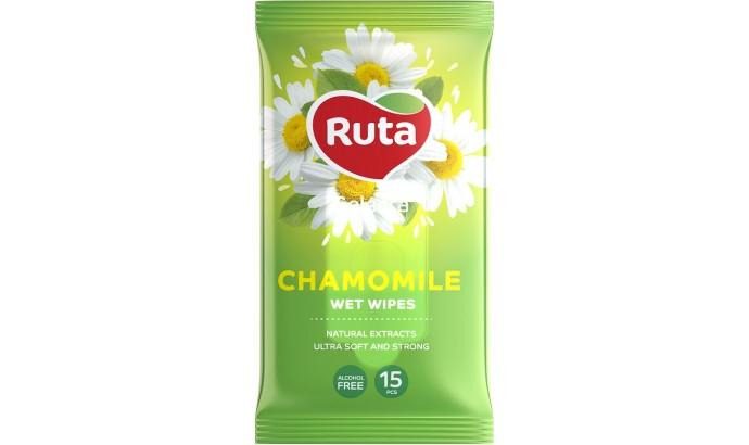 Вологі серветки Ruta Selecta Chamomile - 15шт