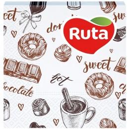 Столові серветки Ruta Coffee 24х24 білі - 40 шт