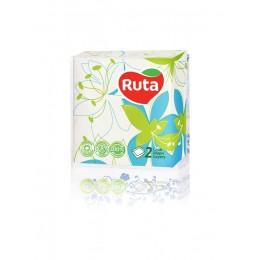 Столові серветки Ruta Флора 24х24 білі - 40 шт