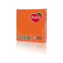 Столові серветки Ruta 33х33 оранжеві - 20 шт