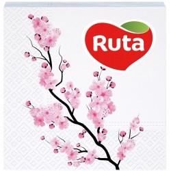 Столові серветки Ruta Сакура 24х24 білі - 40 шт
