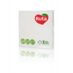 Столові серветки Ruta 33х33 білі - 20 шт