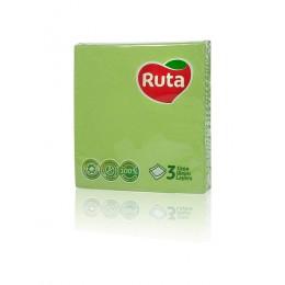 Столові серветки Ruta 33х33 зелені - 20 шт