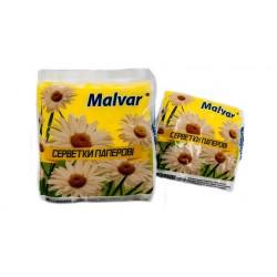 Серветки столові одношарові «Malvar» білі 100 шт.