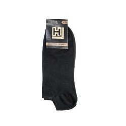Шкарпетки короткі чоловічі стрейч ЛІТО чорні розмір 25-27 12 пар