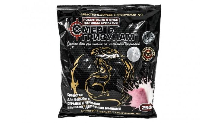 Отрута для мишей «Смерть гризунам» 230 гр. тістові брикети