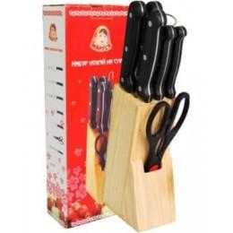 Набір ножів 8553 Маруся 7 предметів на дерев'яній підставці