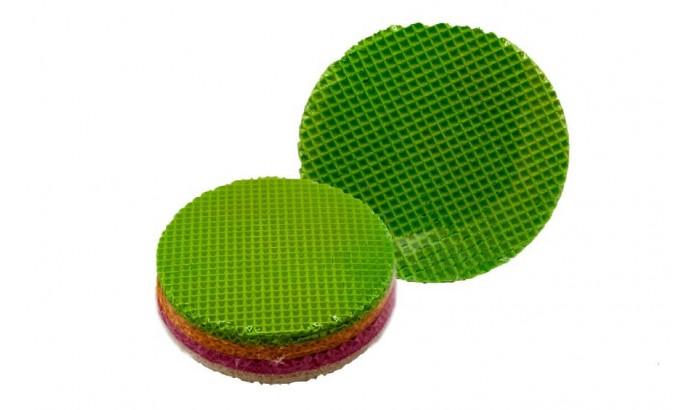 Вафельные коржи круглые цветные 80 листов