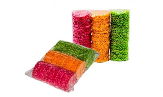 Вафельні брізолі кольорові 10 упаковок