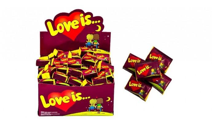 Жуйка «LOVE IS » вишня - лимон 100 шт.